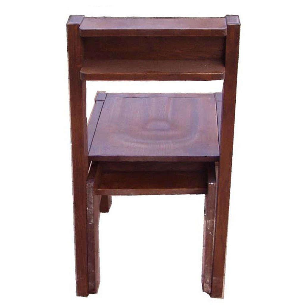 Chaise avec Prie-Dieu pliable en bois 87x40x35 cm 4