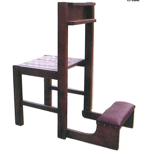 Chaise avec Prie-Dieu pliable en bois 87x40x35 cm 1