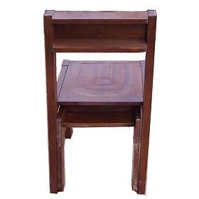 Sedia con inginocchiatoio in legno richiudibile 87x40x35 cm s2