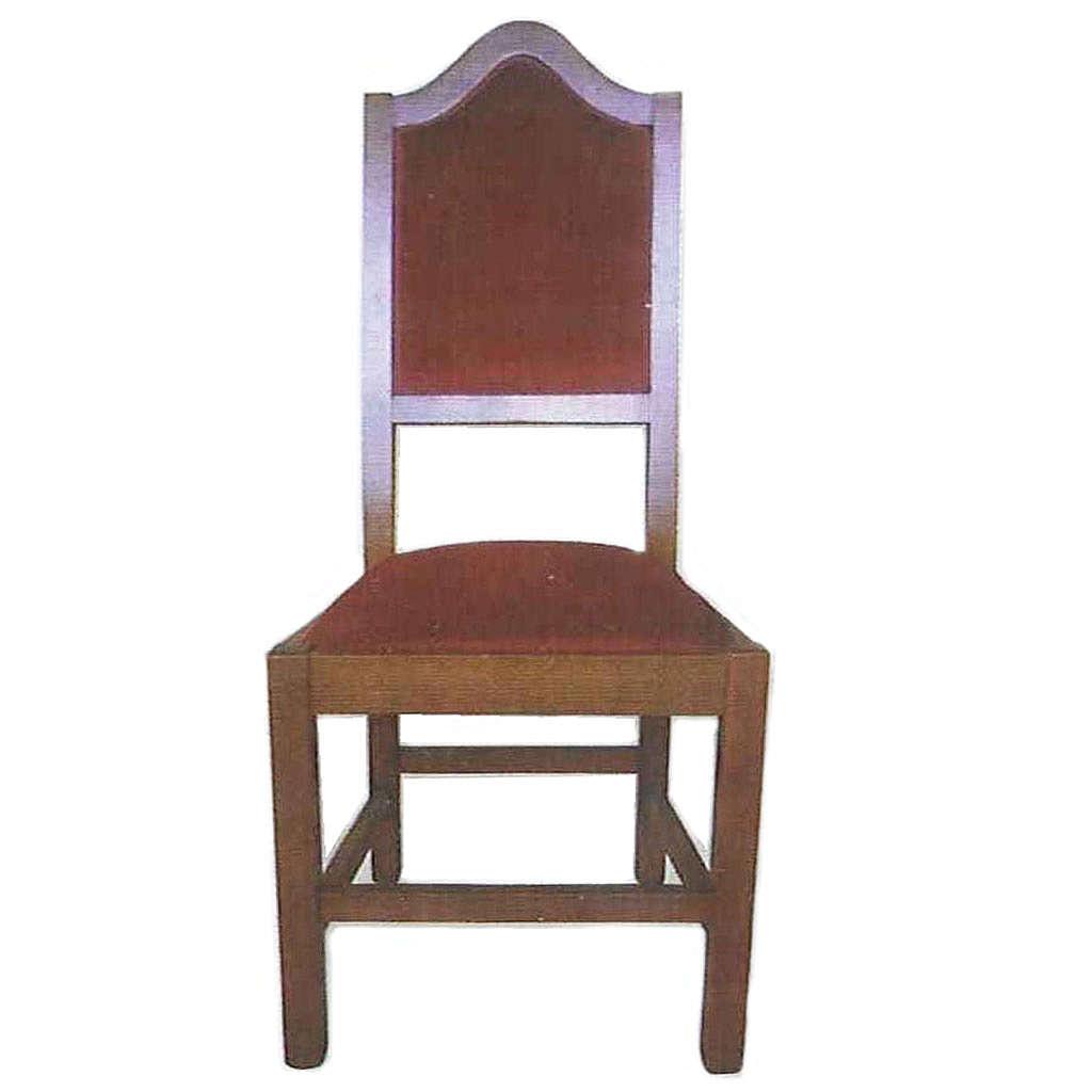 Krzesło z drewna 120x45x47 cm 4