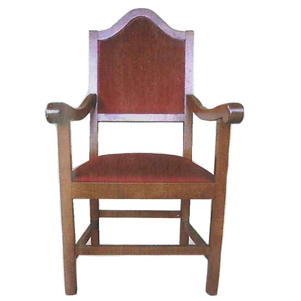 Fauteuil en bois 121x60x48 cm 4