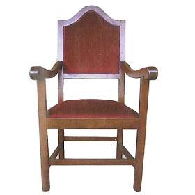 Fotel z drewna 121x60x48 cm s1