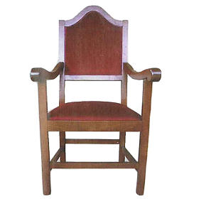 Armchair in wood measuring 121x60x48 cm s1