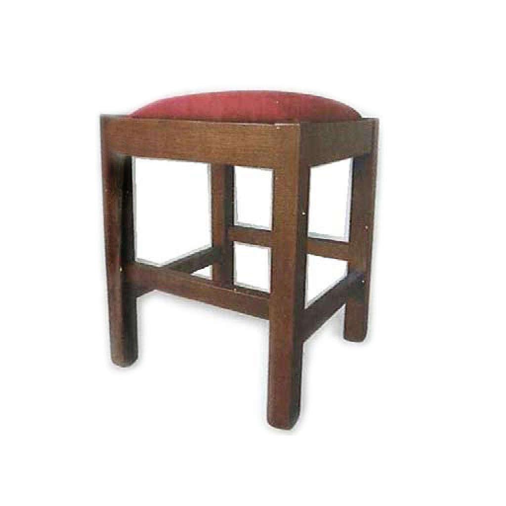 Stool in wood measuring 38x38x47 cm 4