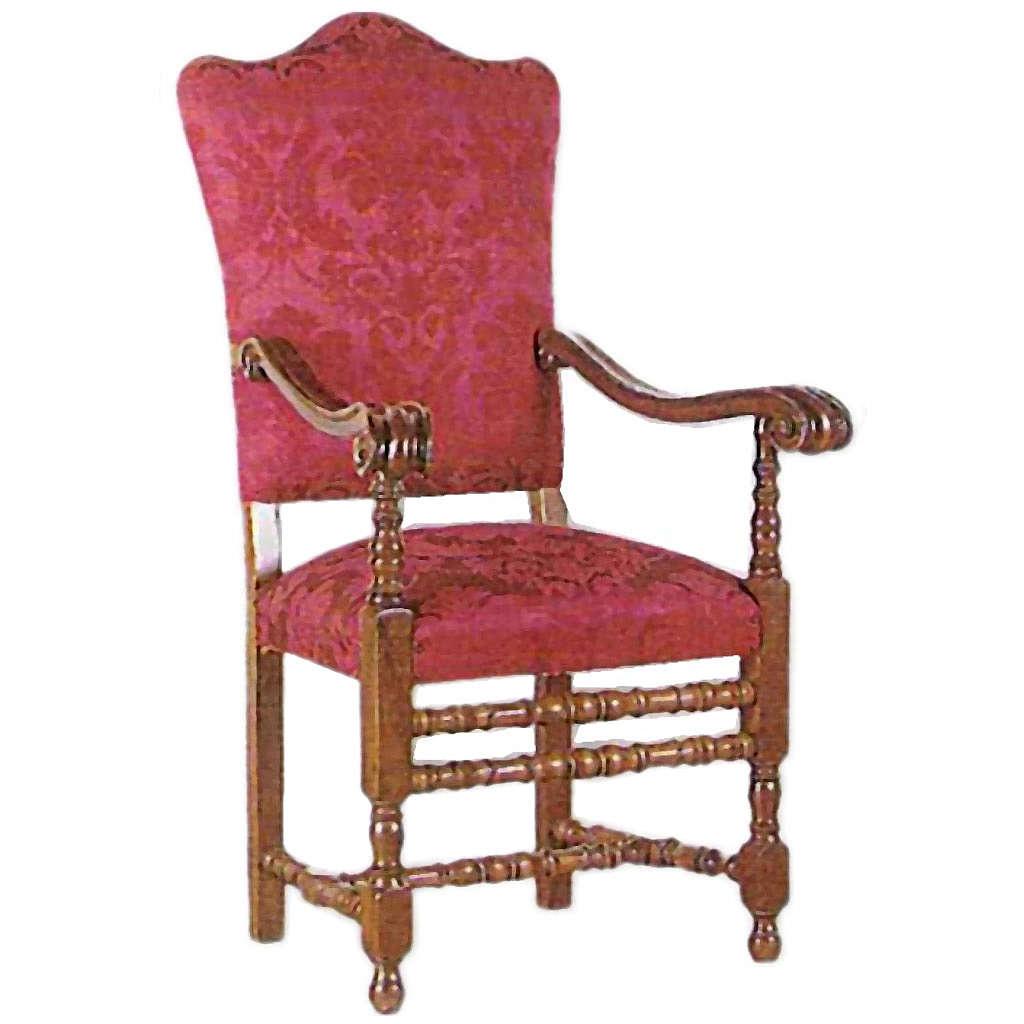Fotel z drewna tłoczonego 124x47x60 cm 4