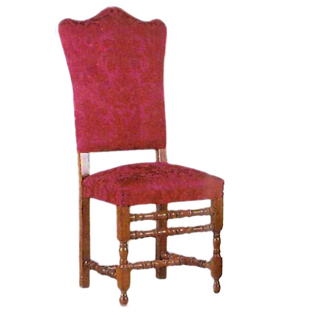 Sedia in legno tornita cm 121x49 4