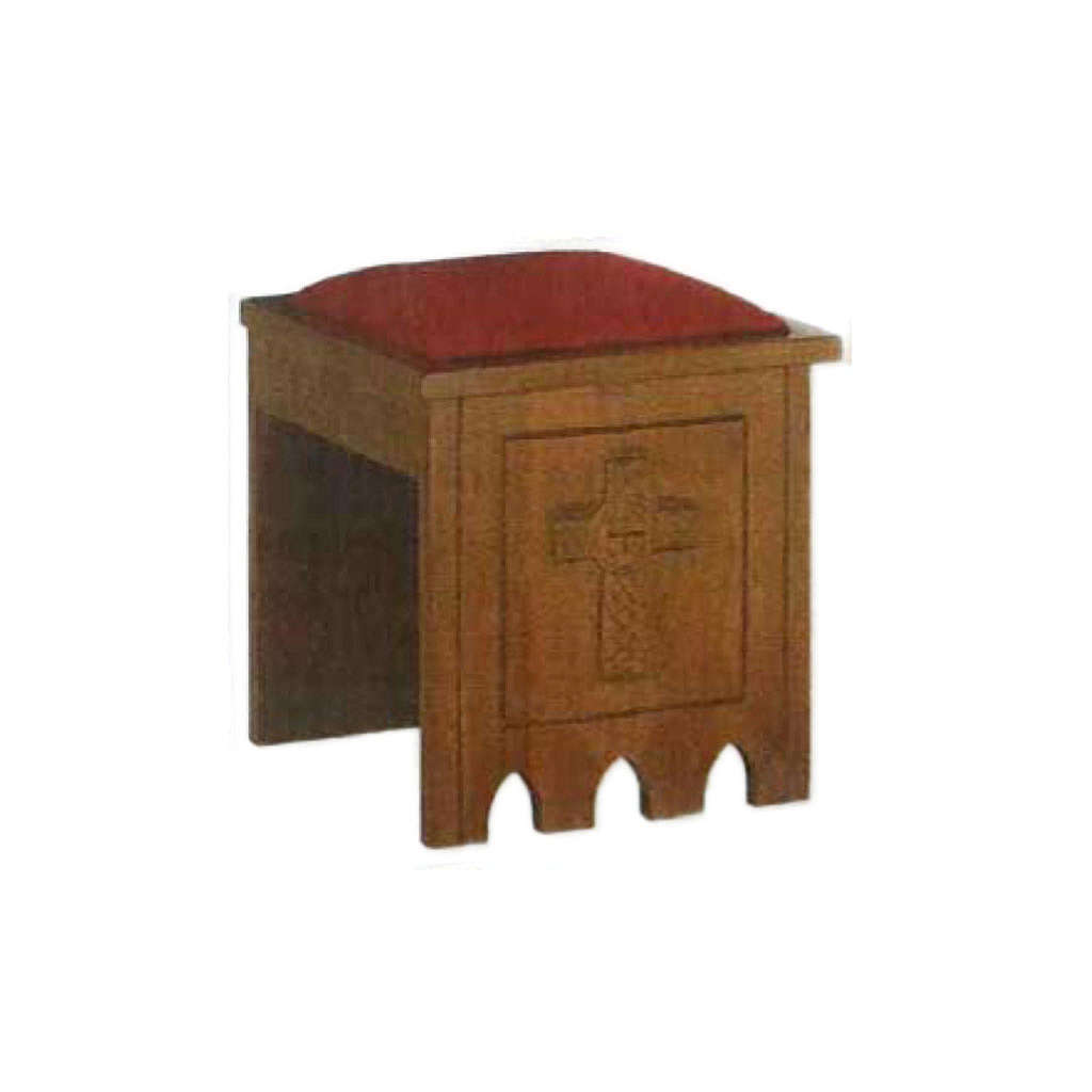 Stool in gothic style, 49x49x49 4