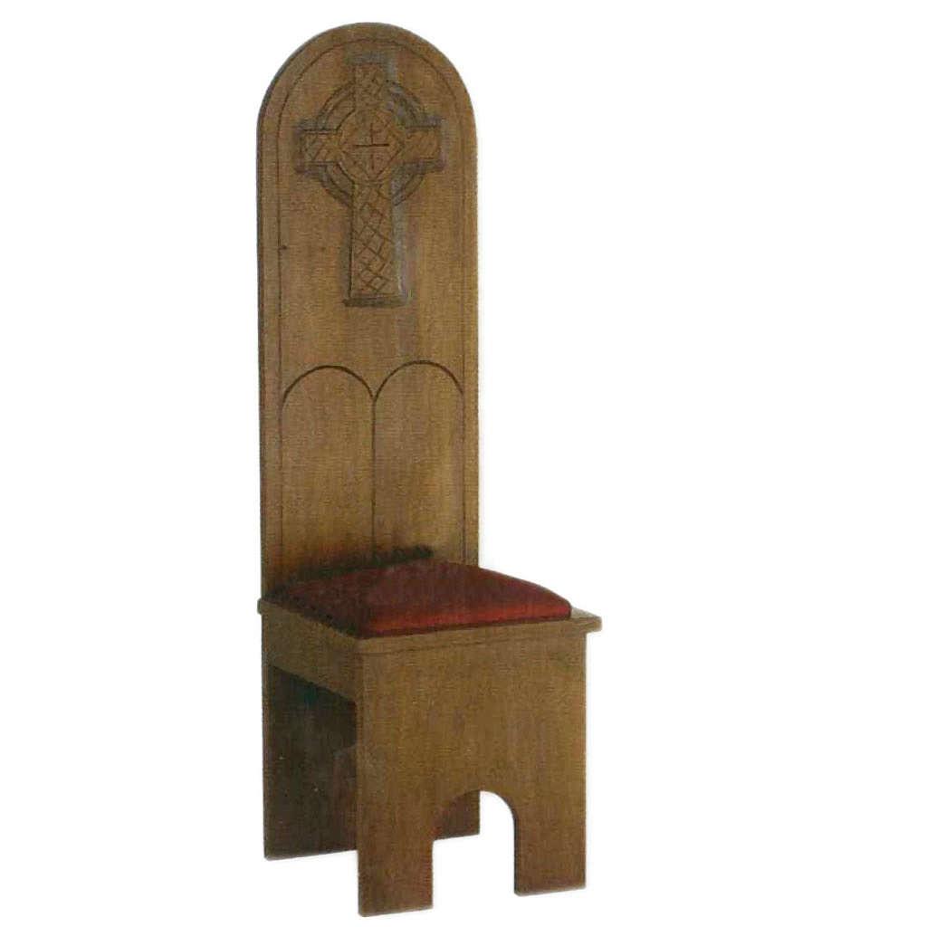 Sedia stile gotico 150x47x47 cm 4