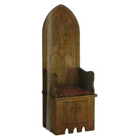 Fotel styl gotycki 160x65x56 cm herb Maryjny s1