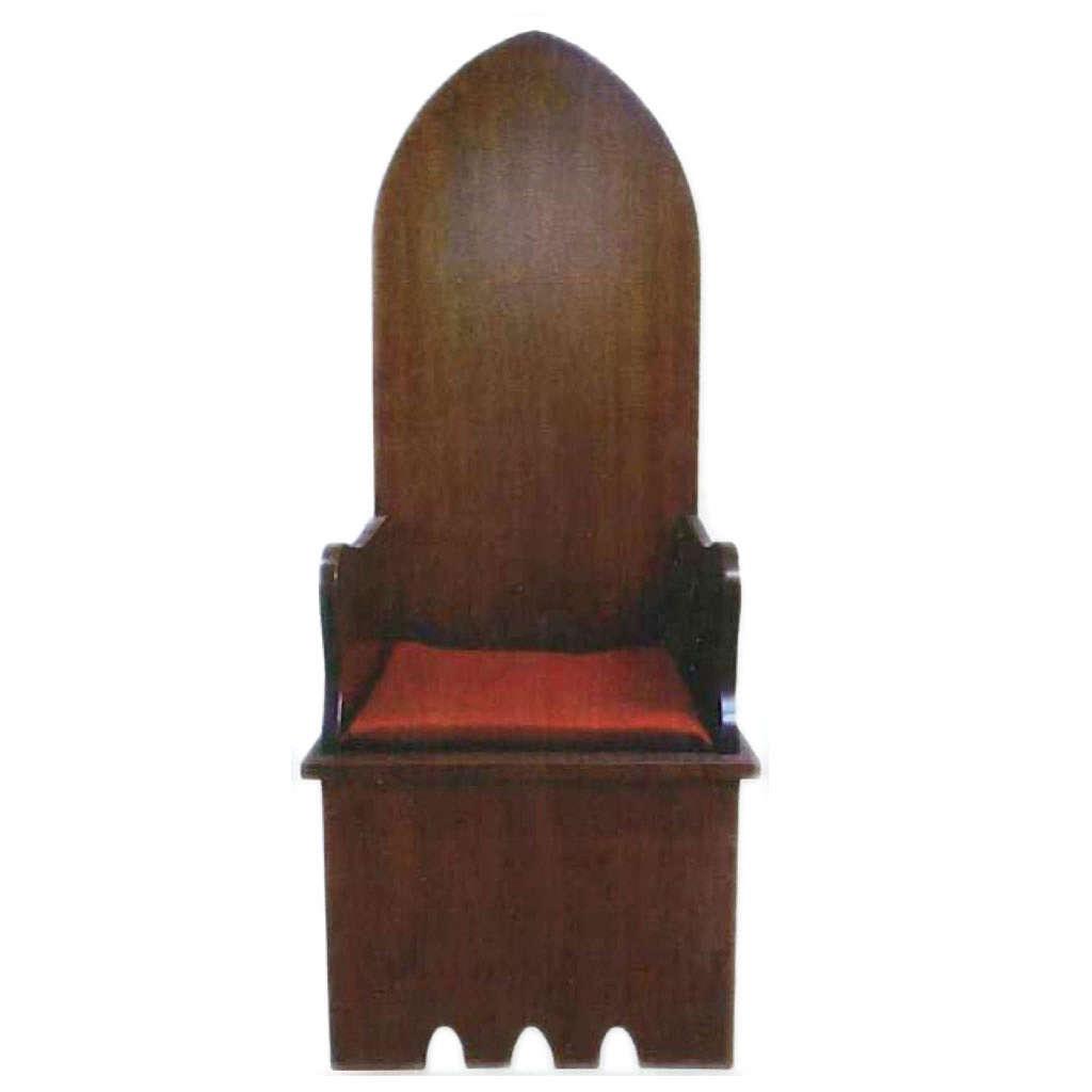 Sillón estilo gótico de madera 160x65x56 cm 4