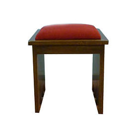 Stool in solid wood, 49x49x49 cm s1