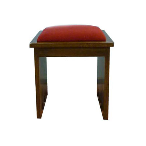 Stool in solid wood, 49x49x49 cm 1