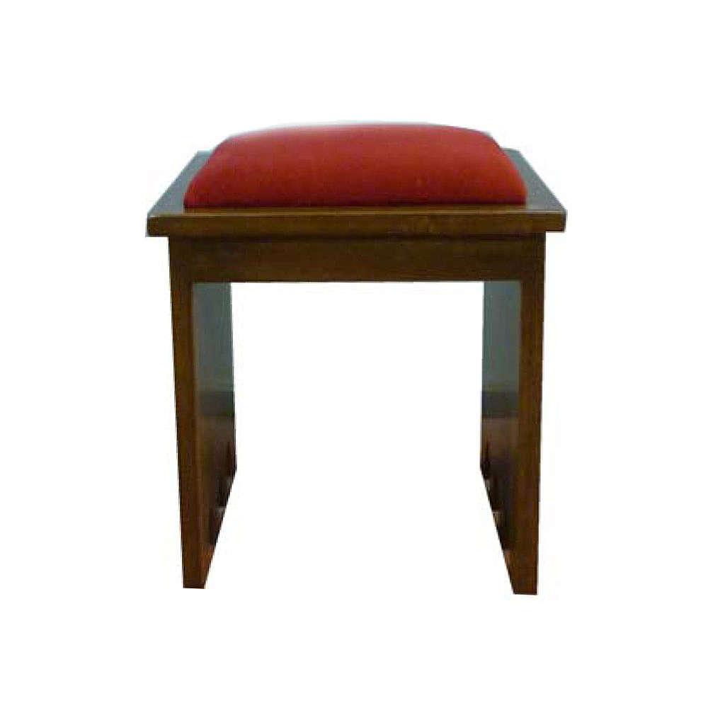 Taboret z drewna litego 49x49x49 cm 4