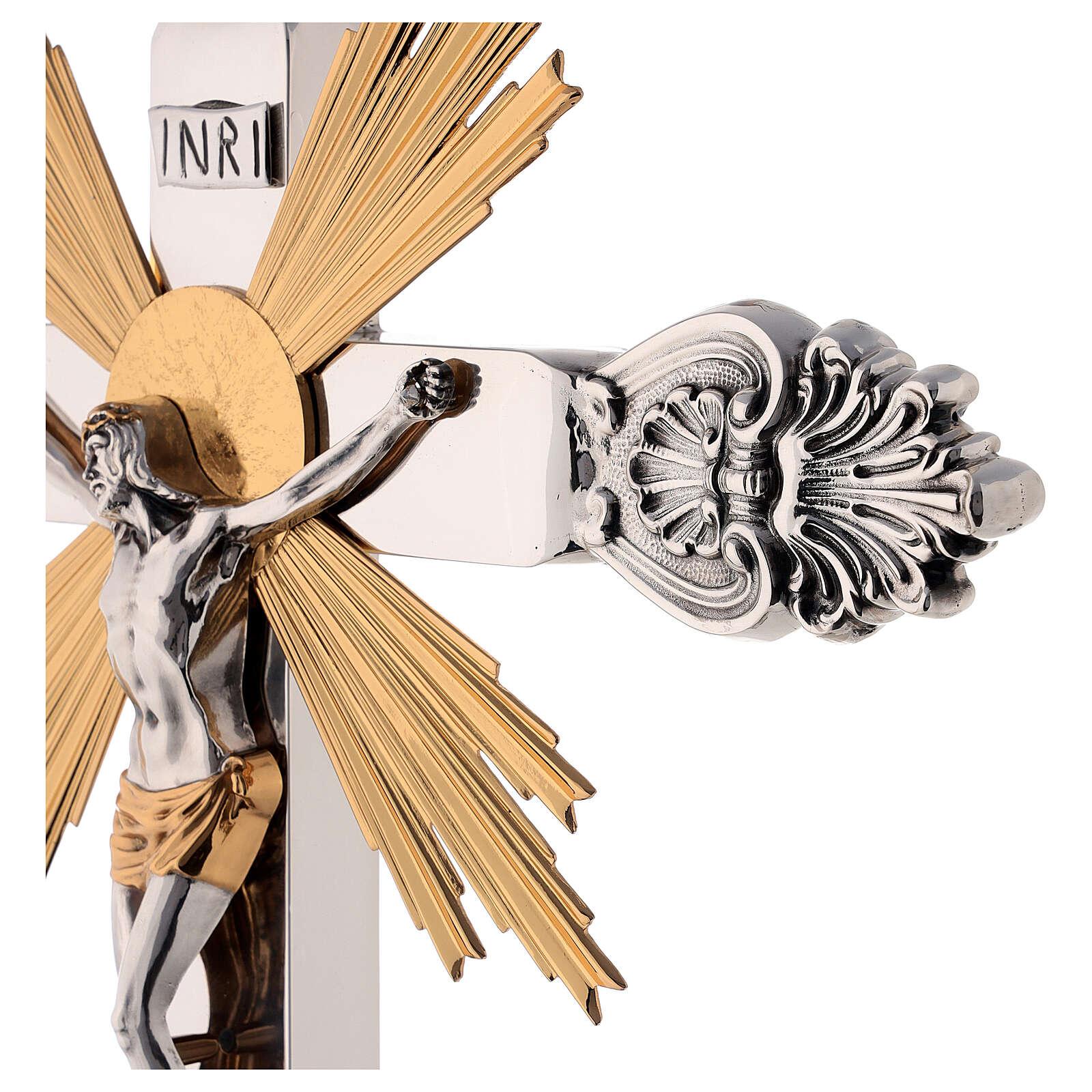 Cruz de altar latón estilo barroco 80 cm 4