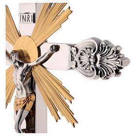 Cruz de altar latón estilo barroco 80 cm s5