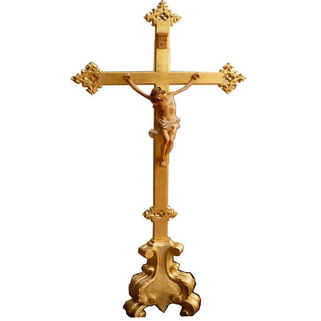 Krzyż na ołtarz drewno nacięte 100x45 cm 4
