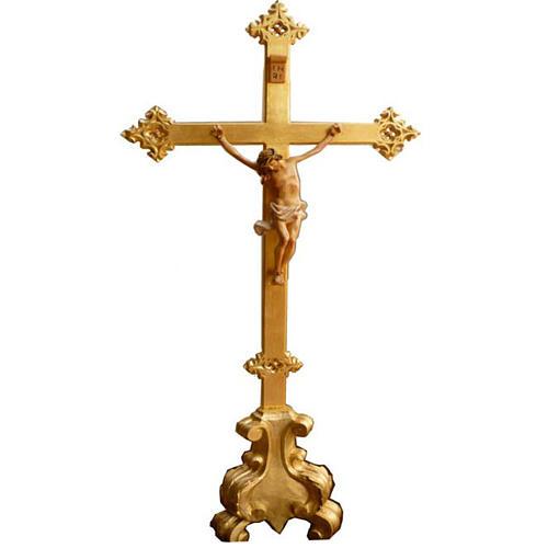 Krzyż na ołtarz drewno nacięte 100x45 cm 1