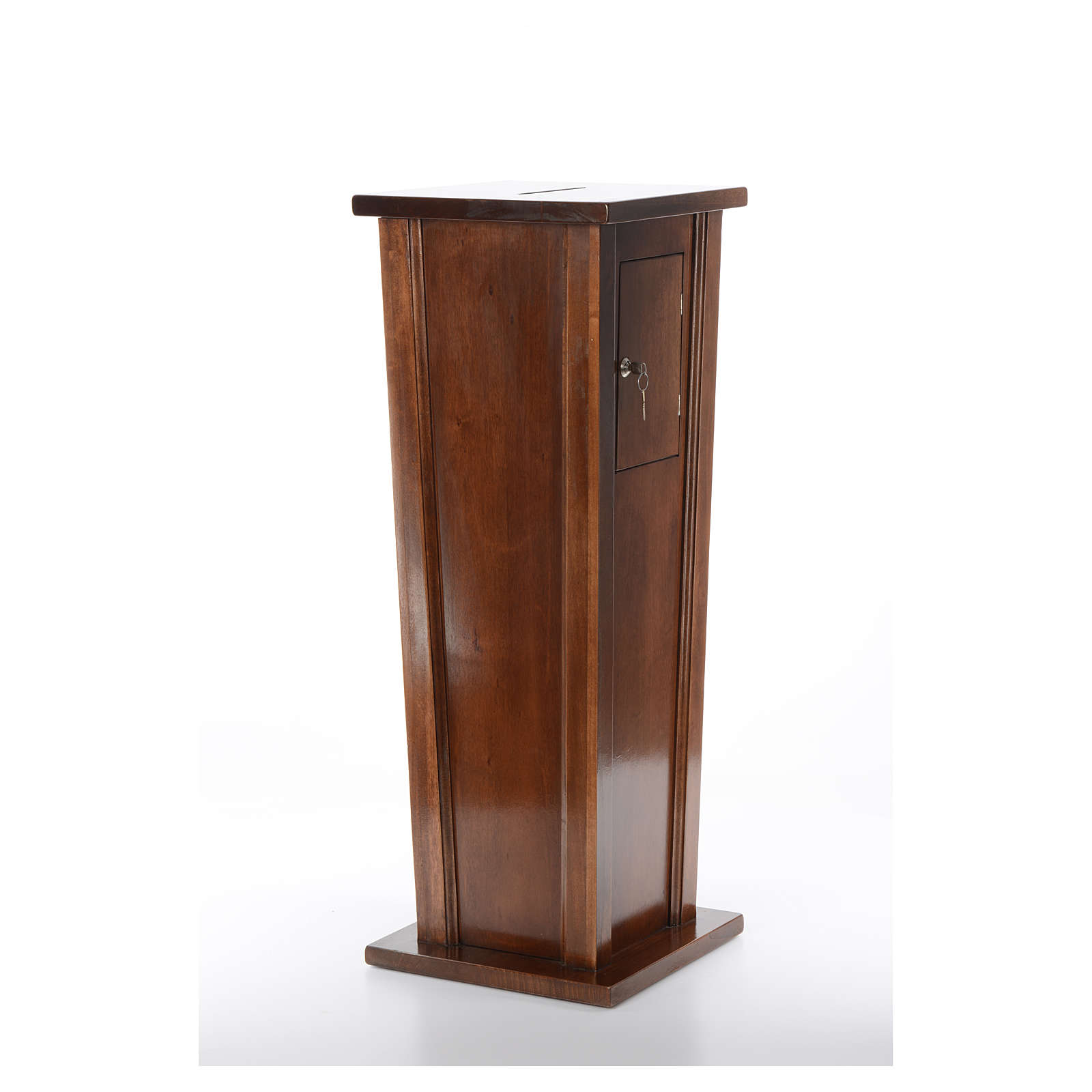 Tronc d'église en bois 96x35x35 cm 4