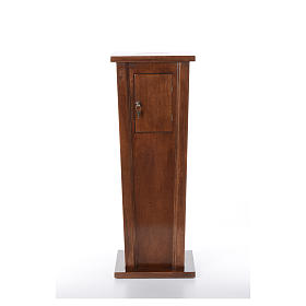 Tronc d'église en bois 96x35x35 cm s1