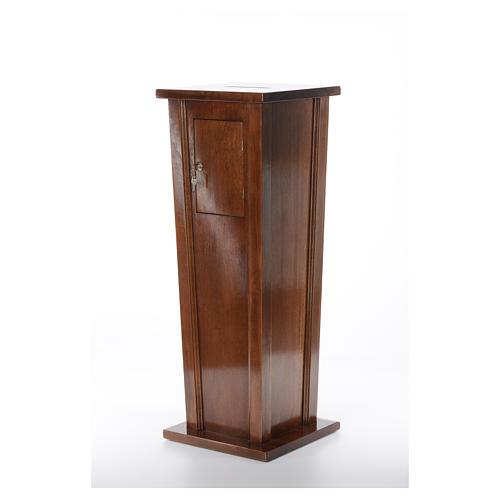 Tronc d'église en bois 96x35x35 cm 2
