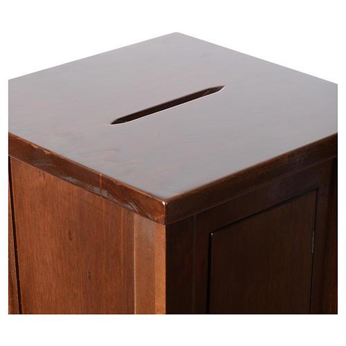 Portaofferte in legno cm 96x35x35 6