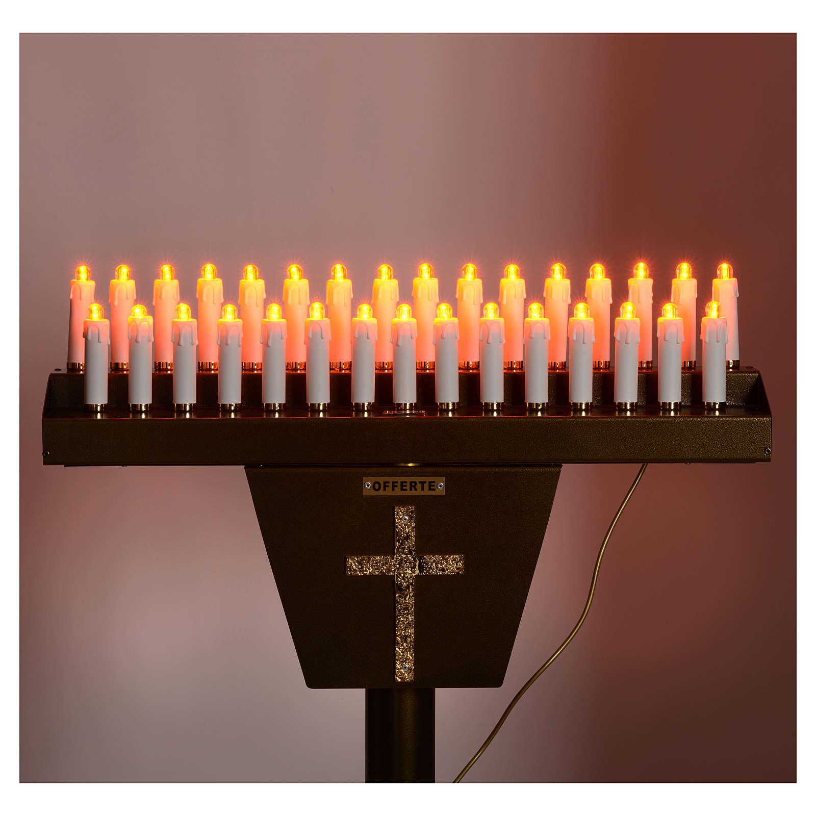 Opferlichtständer 31 Led-Kerzen 4