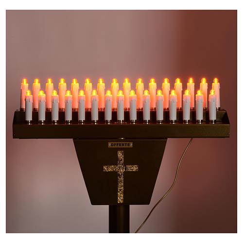 Opferlichtständer 31 Led-Kerzen 5