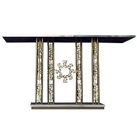 Altare in ottone dorato base marmo cm 90x170x60 s1