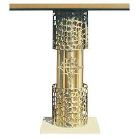 Altare ottone fuso dorato e base in marmo cm 92x150x60 s1