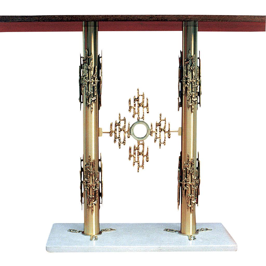 Altare ottone 2 colonne base marmo cm 90x140x60 4