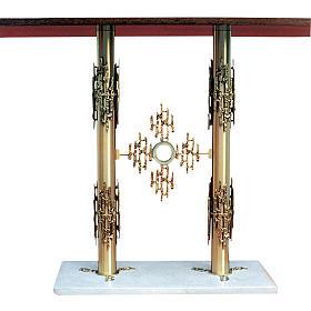 Altare ottone 2 colonne base marmo cm 90x140x60 s1