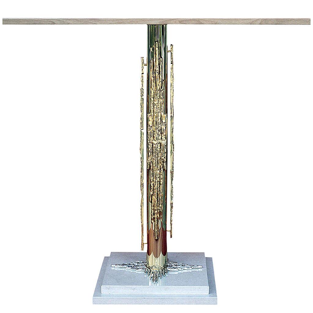 Altar latão moldado e base em mármore 120x60 cm 4