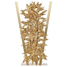 Altare ottone fuso Cristo risorto base marmo 102x150x60 cm s4