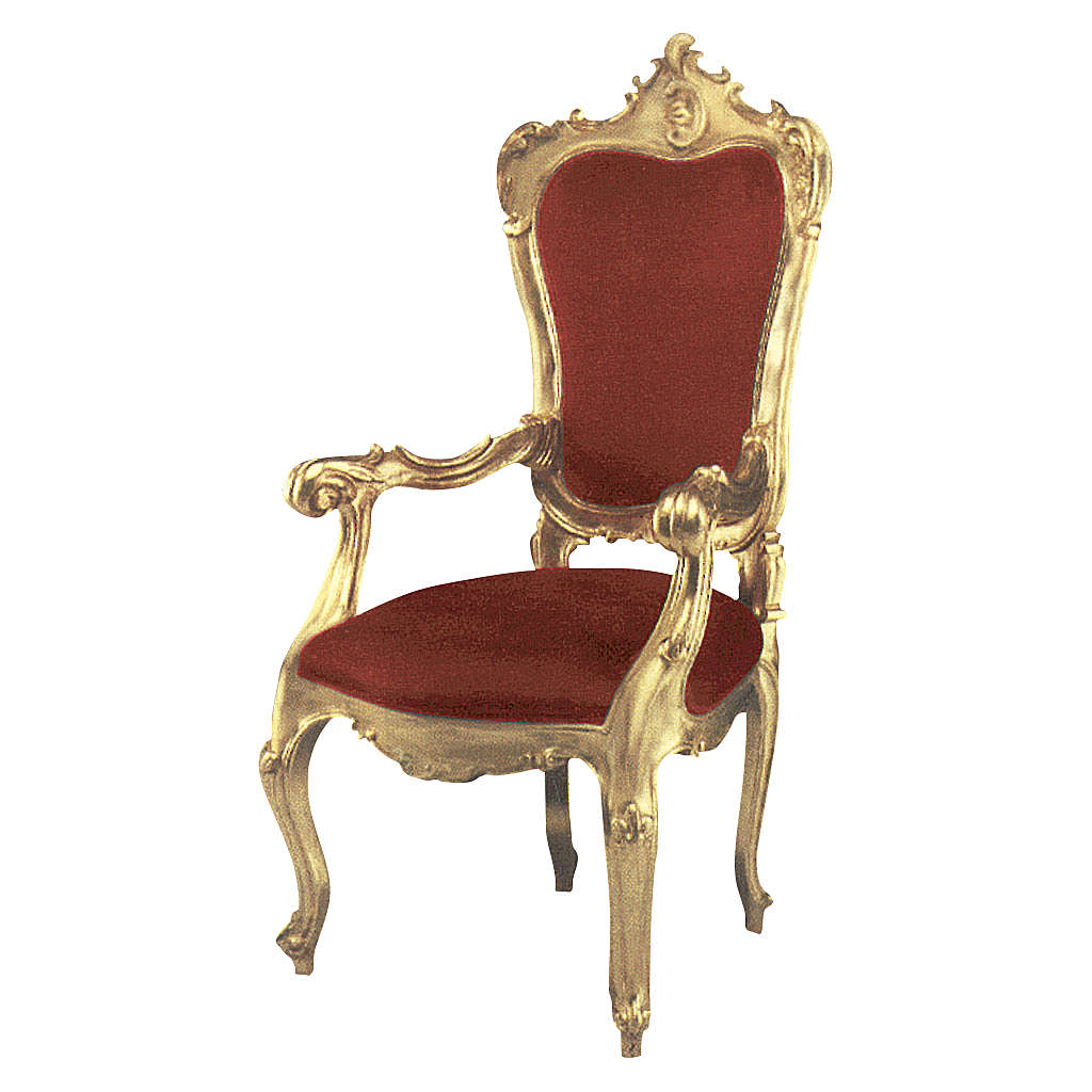 Armchair in hand-carved wood & gold leaf 4