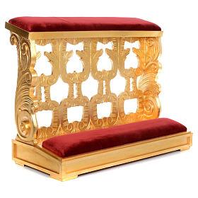 Inginocchiatoio legno intagliato a mano foglia oro inalterabile 2 posti s1