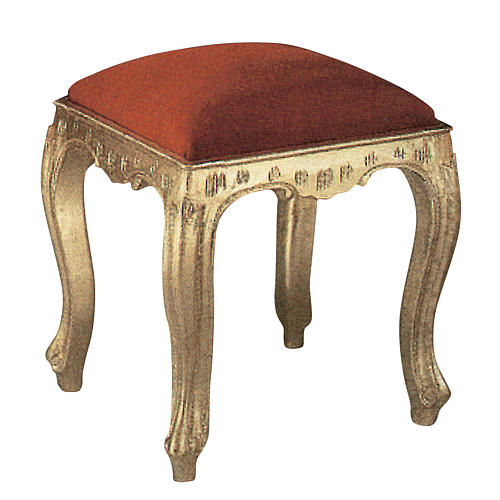 Stool in hand-carved wood & gold leaf 1