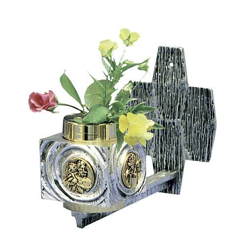 Wall flower box in brass 1