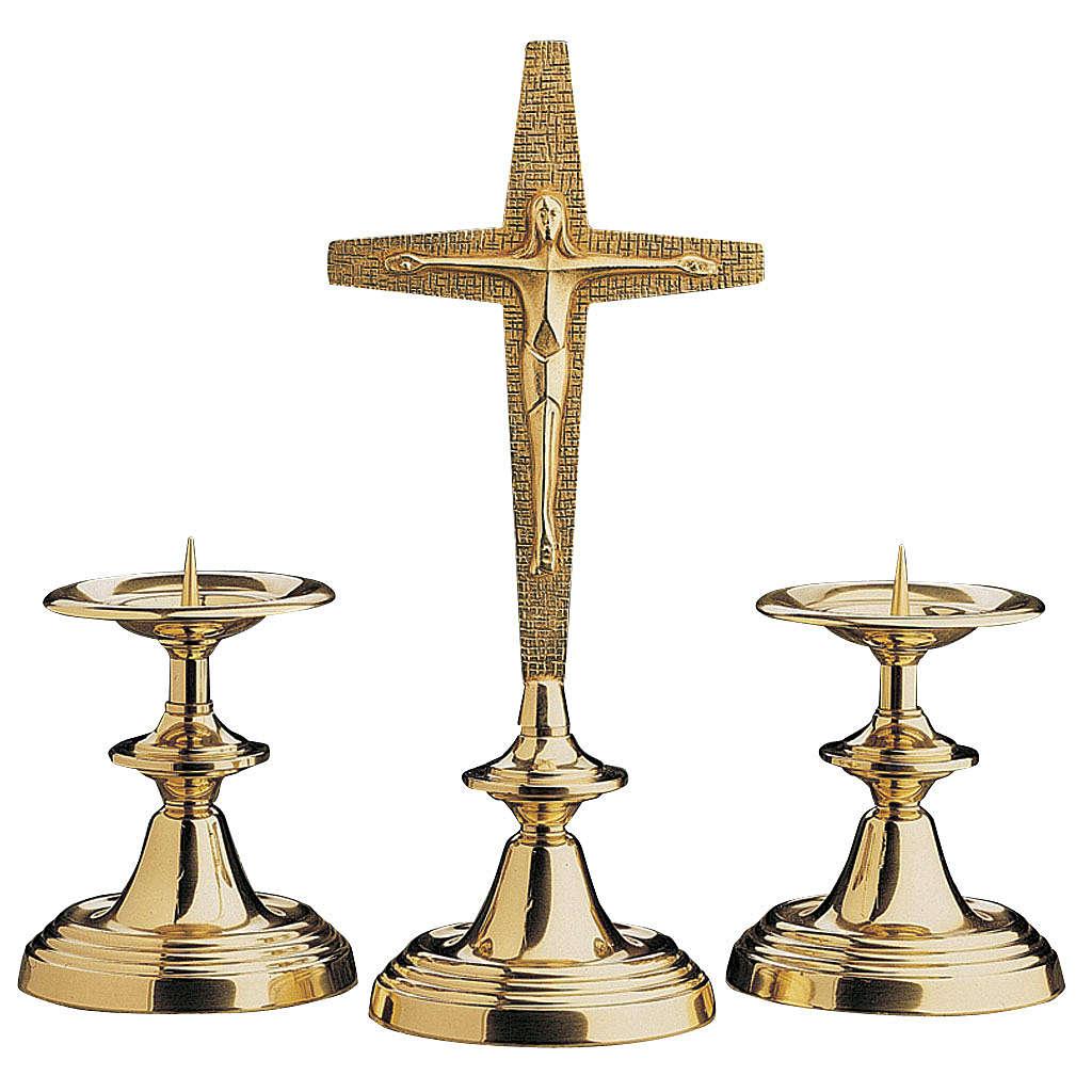 Croce da altare con candelieri Molina 4