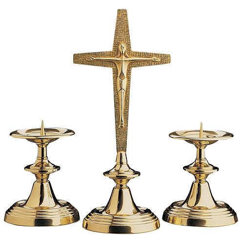 Croce da altare con candelieri Molina 1
