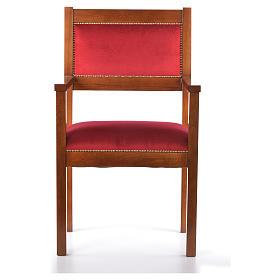 Sillón moderno de estilo Asís madera de nogal s1