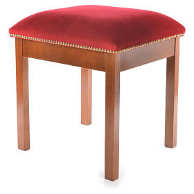 Sgabello moderno legno di noce stile Assisi s2
