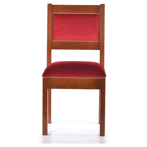 Sedia moderna legno di noce stile Assisi 1