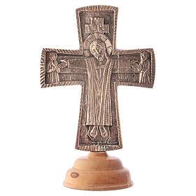 Croix d'autel avec chandeliers: Croix d'autel Christ Grand Prêtre 28x19 cm Moines de Bethléem