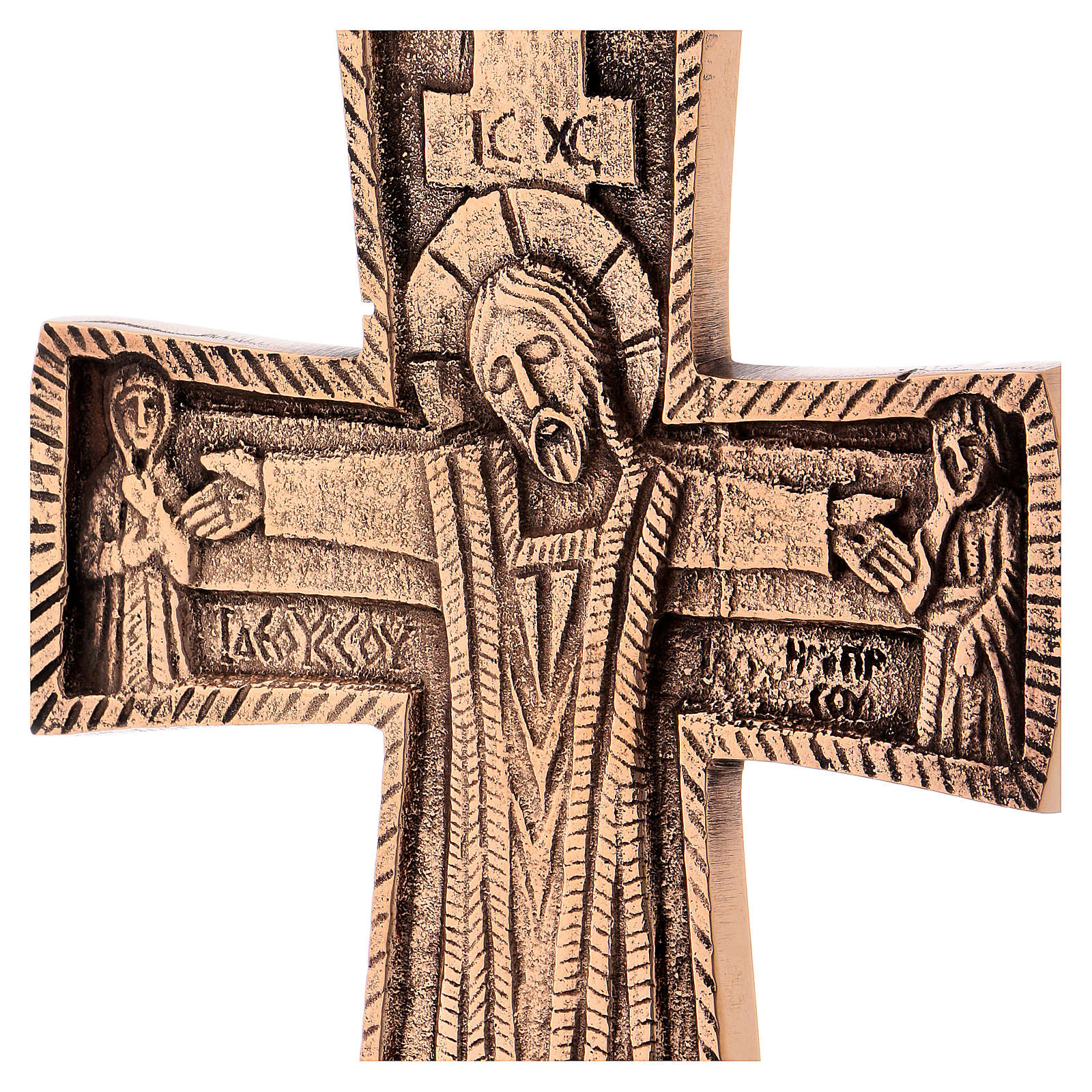 Croce da altare Cristo Grand Pretre 28x19 Monaci Betlemme 4