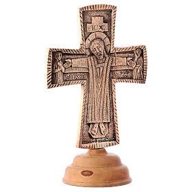 Croce da altare Cristo Grand Pretre 28x19 Monaci Betlemme s4