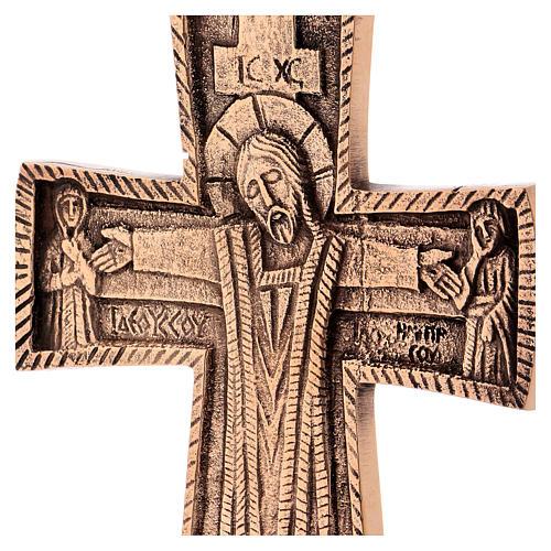 Croce da altare Cristo Grand Pretre 28x19 Monaci Betlemme 2