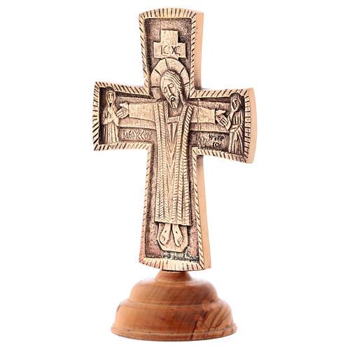 Croce da altare Cristo Grand Pretre 28x19 Monaci Betlemme 3