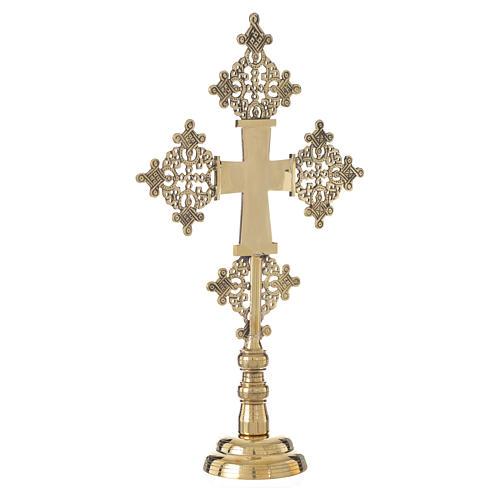 Altar crucifix Christ glorious Bethlehem monks 31x19cm 3