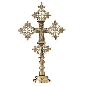 Croce da mensa Cristo Glorioso 31x19 Bethléem s1
