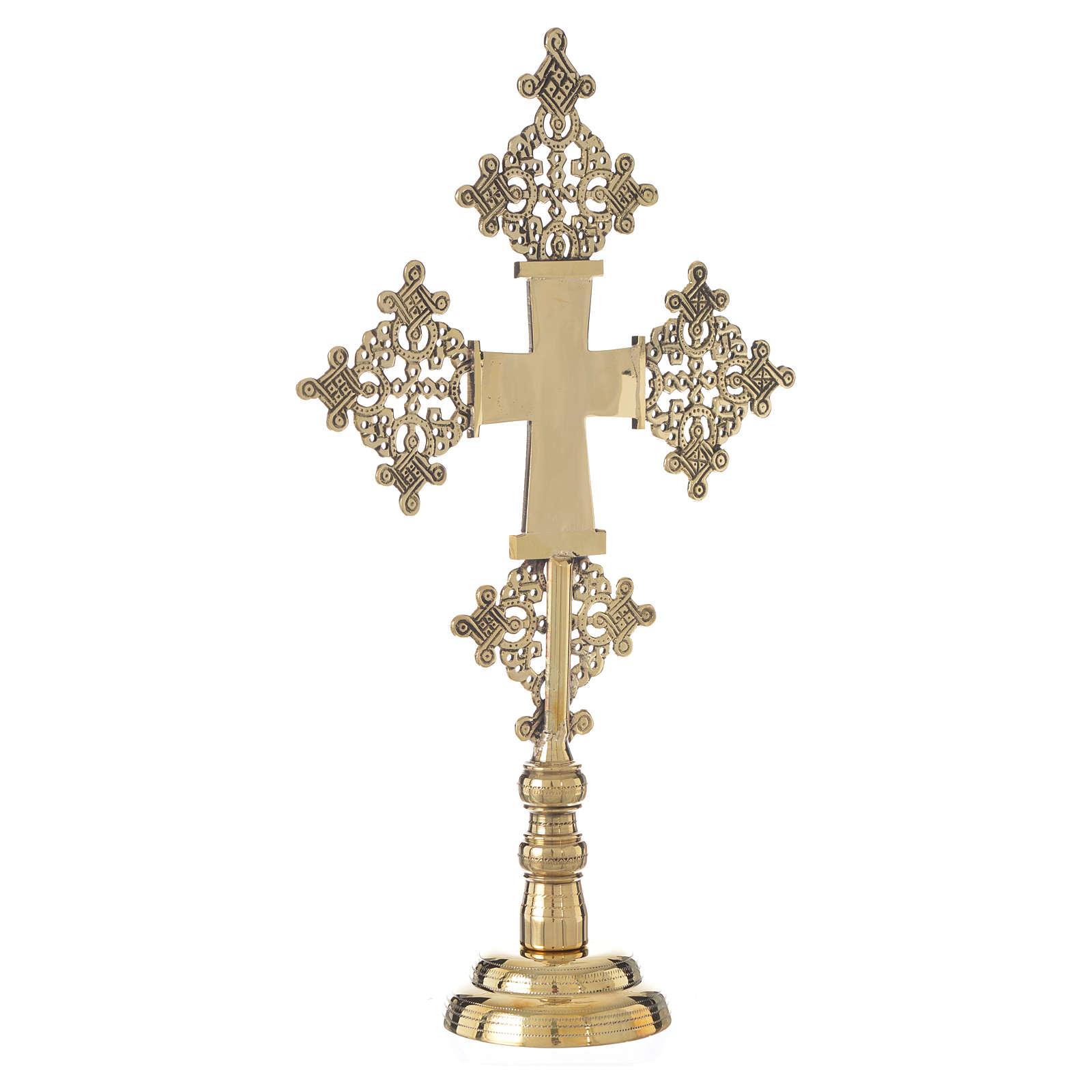 Altar crucifix Christ glorious Bethlehem monks 31x19cm 4